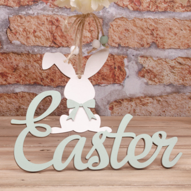 "подвеска ""Easter с зайцем"" зеленая"