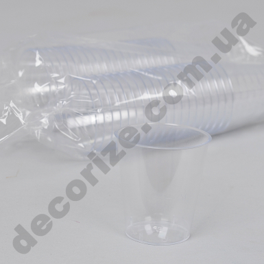 Форма для мусса пластиковая прозрачная (40шт) 40млл