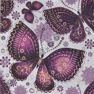"""Салфетки """"фиолетовые бабочки"""""""