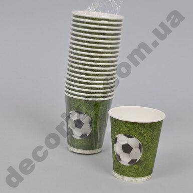 """стакан бумажный 250млл (акция) """"футбол"""" (набор 20шт)"""