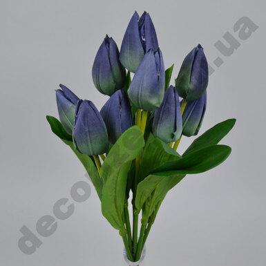 Букет тюльпан-пирамидка сине - лазурный