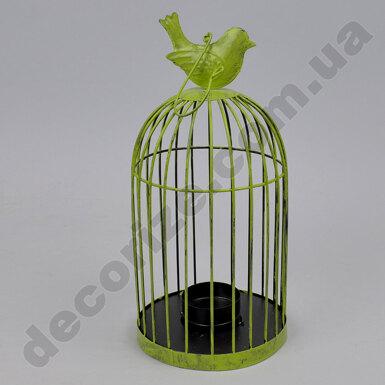 Подсвечник-клетка зеленая