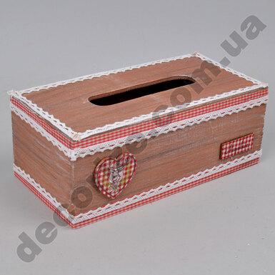 Коробка под салфетки деревянная