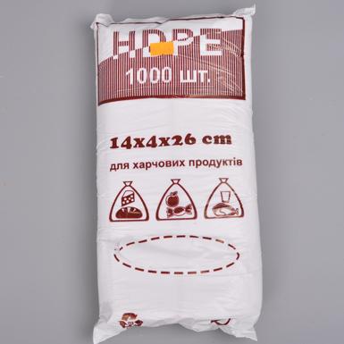 Пакеты фасовка HDPE 14х4х26 (1000шт)