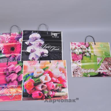 пакеты 37*33 (100шт) с пластиковыми ручками