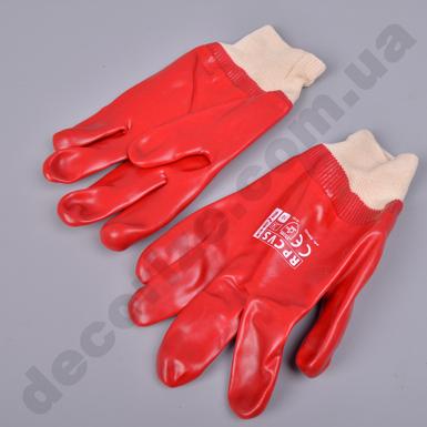 защитные химстойкие ПВХ перчатки RPCVS