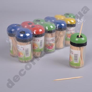 Зубочистки в пластиковой упаковке