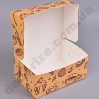 Коробка для сладкого с принтом