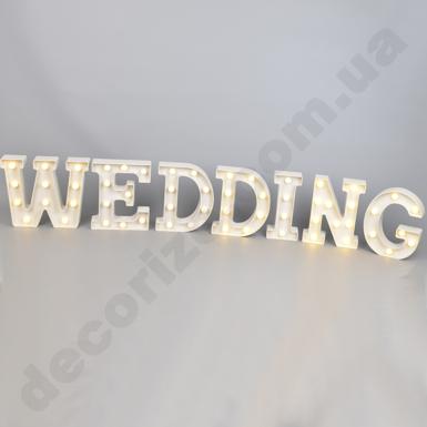 """Слово """"wedding"""" с подсветкой"""