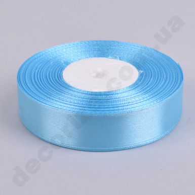 лента атласная 2см*33метра (цвет №62 -голубая)