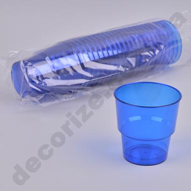 Стакан из пластика синие 0,2 (25шт)