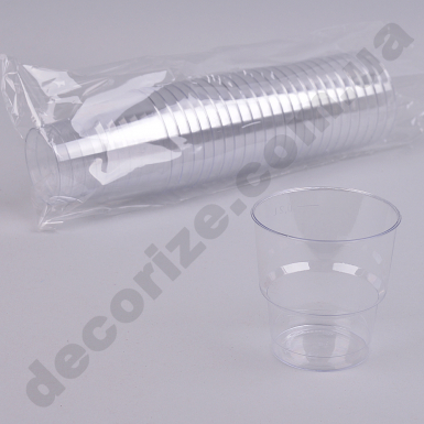 Стакан из пластика прозрачный 0,2 (25шт)