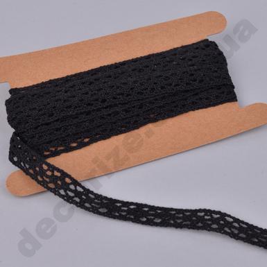 лента кружевная черная (KRB207)