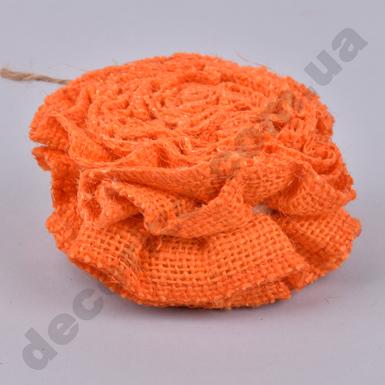 лента из ткани сжатая ярко-оранжевая