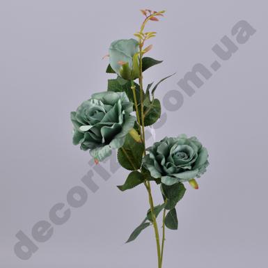 Декоративная роза тройная изумрудная