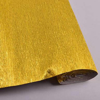 креп бумага металлизированная 50*2.5 м золотистая - 801