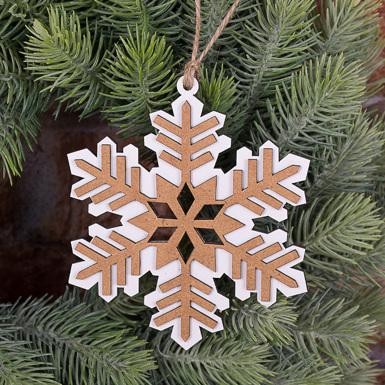 підвісний декор - сніжинка