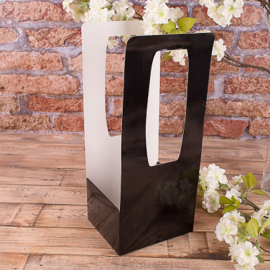 пакет под цветы черный