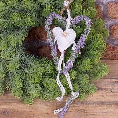Сердце лавандовое подвесное