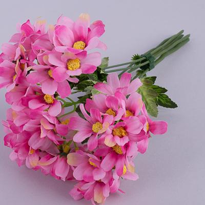 букет ромашек ярко розовый