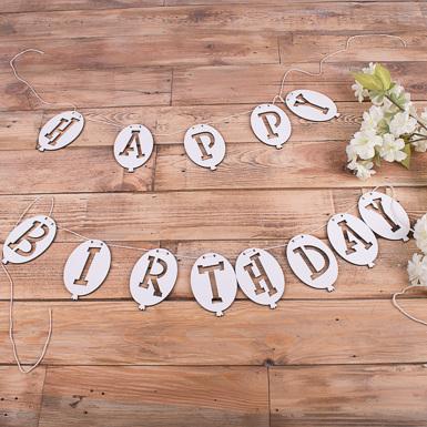 гирлянда happy birthday с шариками