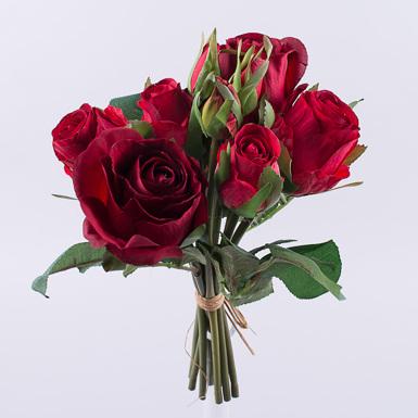 букет розы премиум с бутончиками красный
