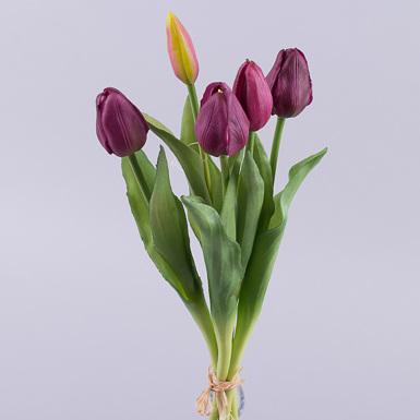 Тюльпан латексный вязкой 5шт (фиолетовый)