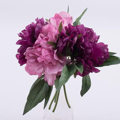 """Букет пионы вязкой """"клео"""" фиолетово розовый"""