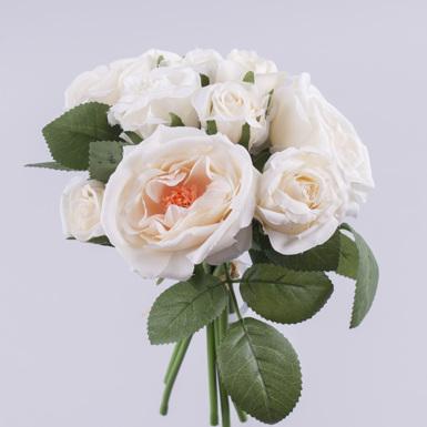 букет роза дикая с бутонами (кремовая)