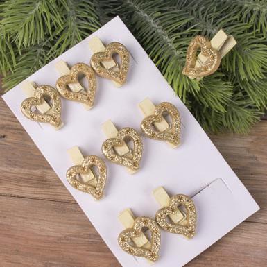 прищіпки сердечка золоті