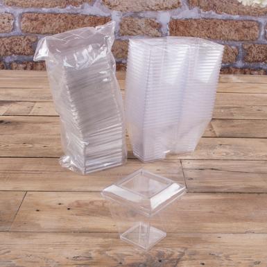 Форма для мусу пластикова з кришкою (мала, 120мл) 50шт