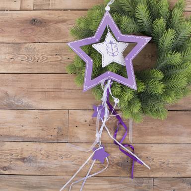 """підвіска новорічна фіолетова """"зірка"""""""