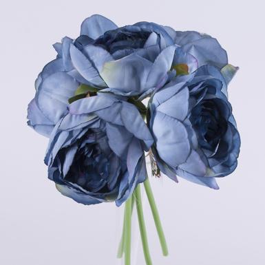 букет пионов синий
