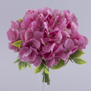 букет гортензии розовый