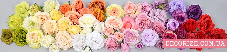Искусственные головки роз оптом и в розницу
