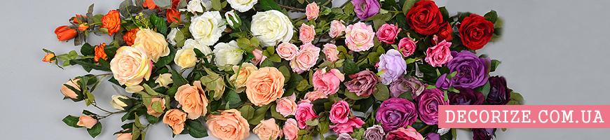 - искусственные розы