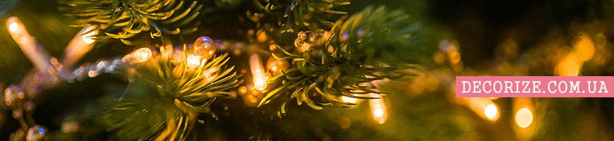 - новогодний декор с подсветкой