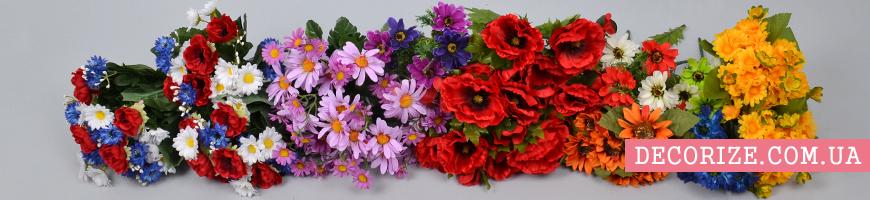 Букеты-дублёры для невесты из полевых цветов