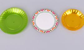 - тарелки из пластика и бумаги
