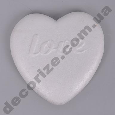 сердце из пенопласта love 22см