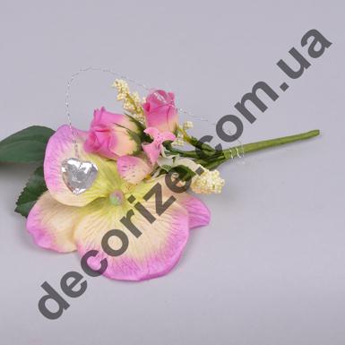 бутоньерка орхидея с булавкой