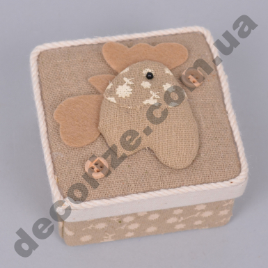 коробочка подарочная с курочкой квадратная