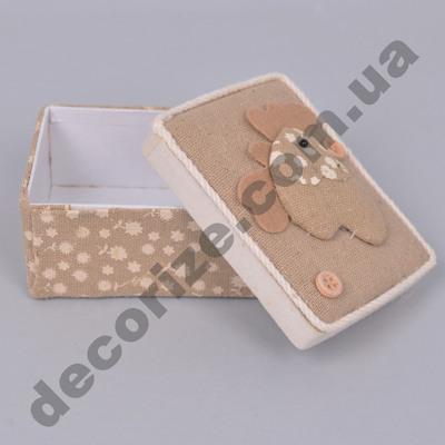 коробочка подарочная с курочкой прямоугольная