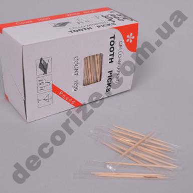 Зубочистки в индивидуальной упаковке (1000шт)