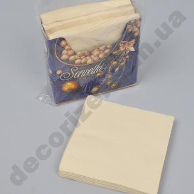 салфетки 33*33см в коробке однослойные  (75шт) молочные