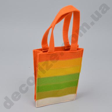 кашпо - сумочка из флизелина