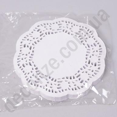 Салфетки ажурные белые бумажные 10 см (100шт)