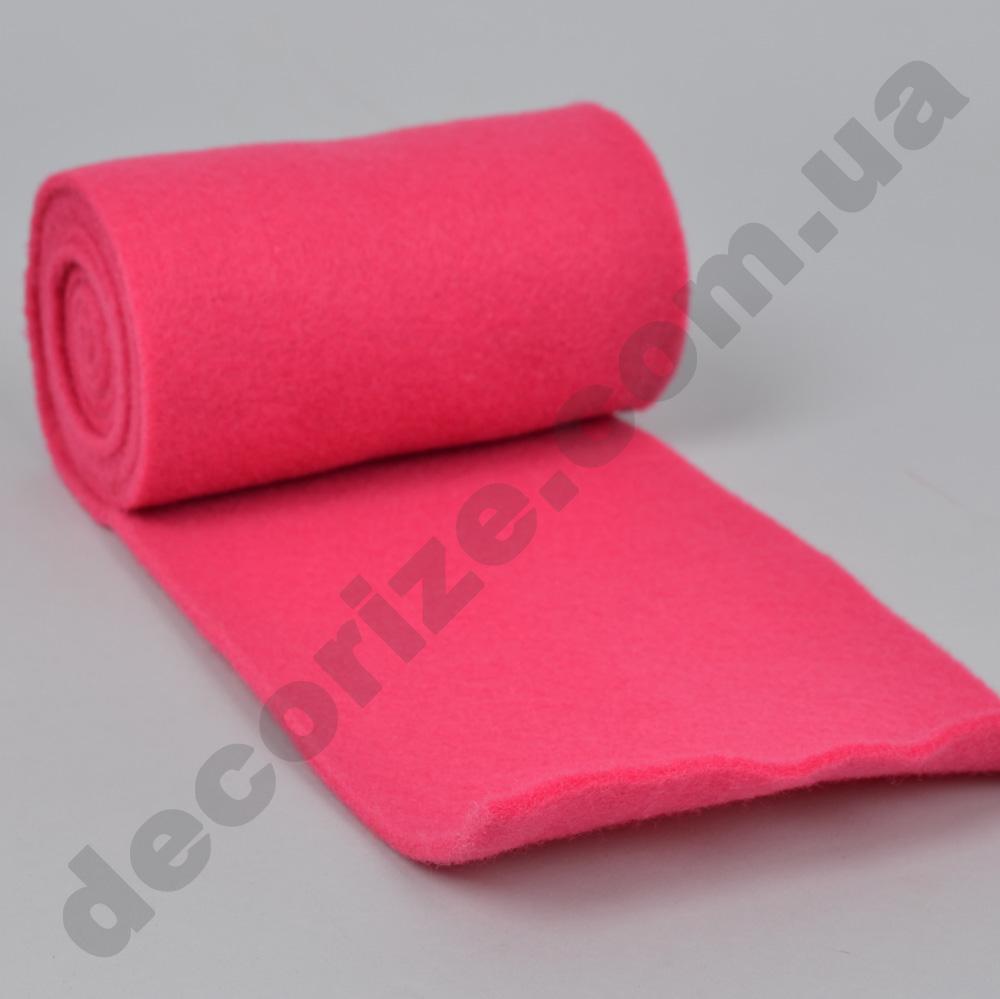 фетр однотонный 15см*2м ярко розовый