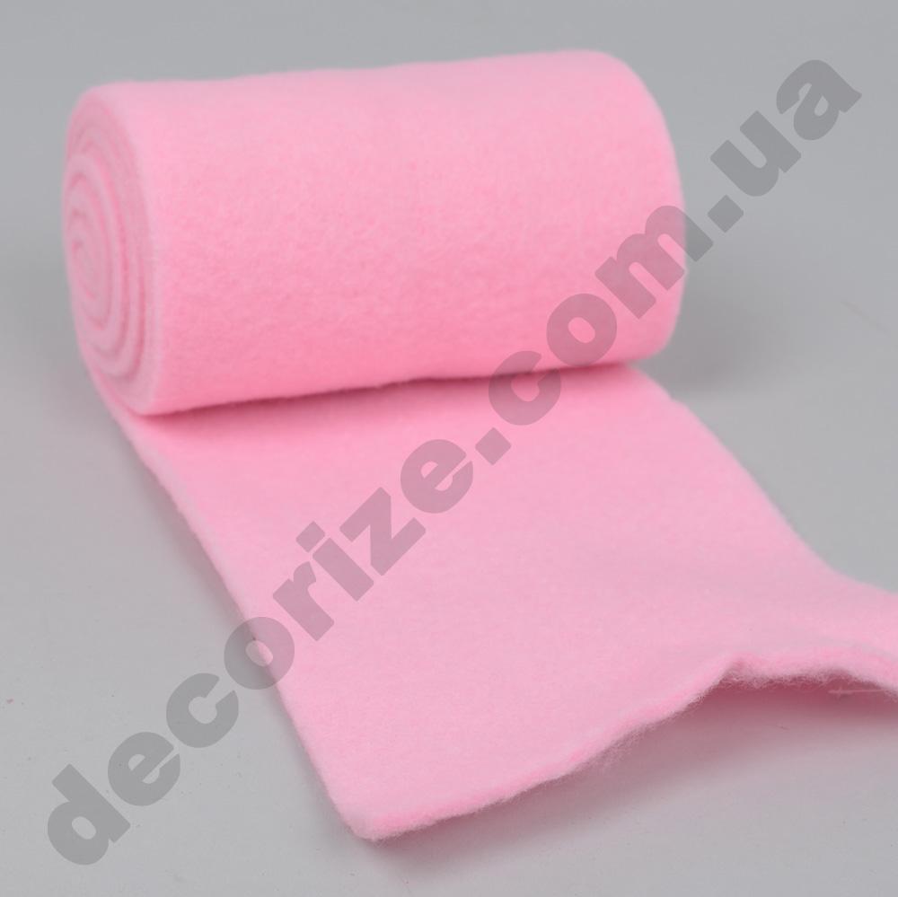 фетр однотонный 15см*2м нежно розовый