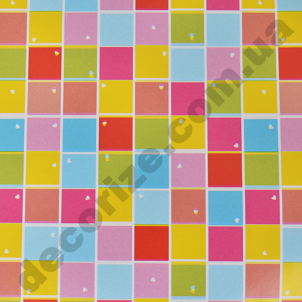 """подарочная бумага """"яркие квадраты""""  70см * 2м."""
